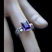 Ring Sterling Silver   Color Purple Ametrine