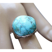 Ring Sterling Silver Turquoise