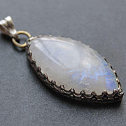Sterling Silver  Pendant  Moonstone  free shipping