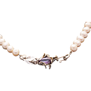 Pearls Cultured Necklace Sterling Silver Pendant   Color Change Alexandrite Pendant