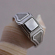 Mens Sterling Silver Ring Handmade