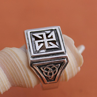 Handmade Mens Ring Hand-sculpted Ring Sterling Silver Ring Viking Ring