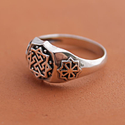 Mens Ring Sterling Silver Hanmade Ring