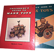 Greenberg's Guide to Marx Toys Volume I & II 2 Book set Maxine Pinsky 1990 1988
