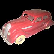 Kingsbury Chrysler Airflow Red sedan 1930's Pressed steel Car