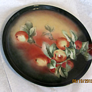 Stunning hand painted T&V Limoges tray charger vintage artist signed