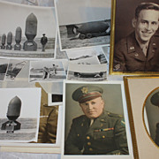 Super WWII Langley Field air force bomb and soldier photo lot major goff