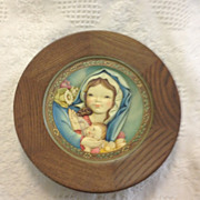 Anri Ferrandiz Mother's day 1974 wooden plaque