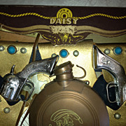 Super TOY Daisy gun and holster set with box vintage leather cowboy