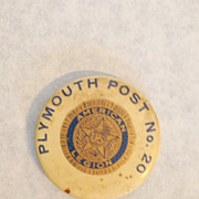 American Legion Plymouth CT Connecticut post no. 20 pin back