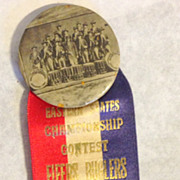 Fifers Buglers and drummers Bridgeport CT 1929 pin back medal