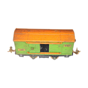 Lionel 805 prewar O gauge tinplate pea green Boxcar vintage