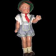 Vintage Celluloid Turtle Mark #22 boy doll 8 1/2 inch nice!