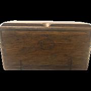 Old Oak Singer Sewing machine puzzle box w Attachments!