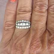Art Deco 14 Kt White Gold 3/4 ct G-VS Diamond Ring