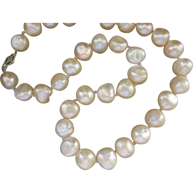 baroque white product pearls drilled beads