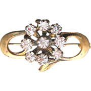 Antique Edwardian Rock Crystal Gilt Pin