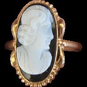 Vintage 10 kt Cameo Ring