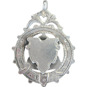 LAST CHANCE..Antique Victorian English Sterling Charm, Pendant, or Watch Fob