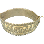 Antique Victorian Pinchbeck Bangle Bracelet