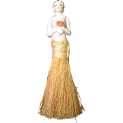 CLEARANCE....Vintage Art Deco French Half Porcelain Doll Clothing Brush