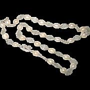 Vintage Sterling Cultured Pearl Necklace