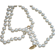 CLEARANCE...Vintage 14 kt Japanese Akoya Cultured Pearls