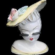 Vintage Lady Head Vase Planter