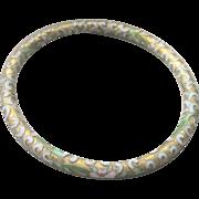 Antique Chinese 22kt Gold Gilt Cloisonne Enamel Bangle Bracelet