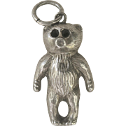 "..Antique 1906 English Victorian ''Teddy Bear"" Sterling Charm"