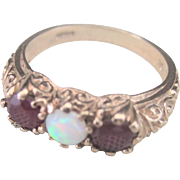 LAST CHANCE..Antique 1.30 ct English Victorian 9 kt Repousse Wedding Stackable Ring