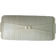 CLEARANCE..Vintage Art Deco Ivory Celluloid Necklace Jewelry Box for Presentation