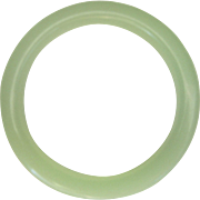 Vintage Chinese Opaque Green Bangle Bracelet