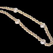 Vintage 10kt Cultured Pearl Bracelet