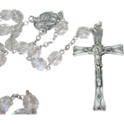 LAST CHANCE...Vintage Art Deco Sterling Crystal Rosary