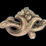 Antique Late Georgian Early Victorian 10 kt Cornucopia Pin