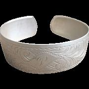 ..Antique Victorian Sterling 3/4'' Wide Cuff Bracelet