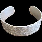 Vintage Victorian Revival Sterling Cuff Bracelet