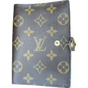 Vintage Louis Vuitton Wallet with Room for Day Timer