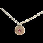 Antique Victorian 10kt Paste Slide necklace