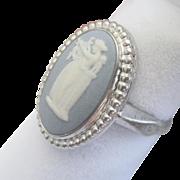 Vintage Wedgewood Sterling Greek Lady Ring