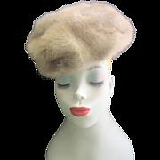 Vintage 1950's Mink Hat