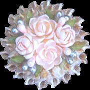 Antique Victorian Sailor's Art Sweetheart Pin