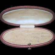 1900's Edwardian Leather Pin or Bracelet Jewelry Box