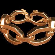 Vintage Gold Plated 102 grams Wide Link Bracelet