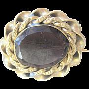 Georgian Pinchbeck Purple Paste Pin Circa 1830