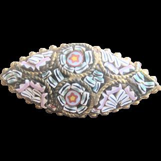 Italian Micromosaic Circa 1850's Pin