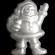 Huge Vintage Sterling Santa Claus Pin Pendant