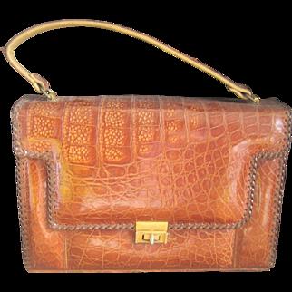 Vintage 1950's Alligator Handbag