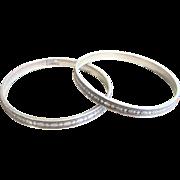 Antique Pair of Edwardian Sterling Bangle Bracelets